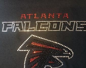 Atlanta Falcon Rhinestone Tshirt