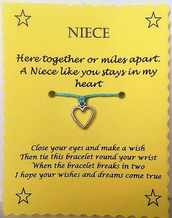 Niece easter gift niece wish bracelet niece charm bracelet like this item negle Images