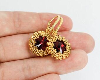 Gift-for-her gift-for-Mothers day gift-for-Mother-of-groom gift-for-sister gift-for-wife gift Gold earrings Drop earrings Swarovski earrings