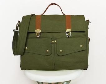 Dark Olive Green Messenger Bags/Handbags/Bags&Purses/School Bags/Canvas Bags/Backpacks/Shoulder Bags/Travel bags/Diaper Bag/Crossbody Bags