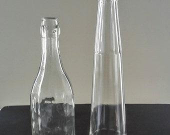 Liquor Bottle - Clear Glass Bottles - Mid Century Bar Ware - Vintage Bar Ware - Vintage Glass Bottle - Vintage Barware - Vintage Bottles