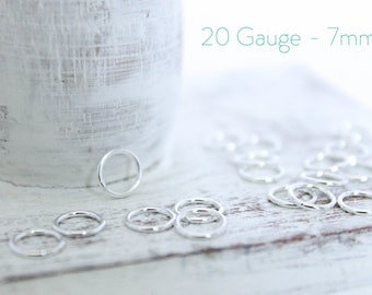 25 Pieces - Sterling Silver Closed Jump Rings - 7mm Jump Ring - Jewelry Closure - Connector - Silver Findings - Wholesale Bulk / SS-CJR002