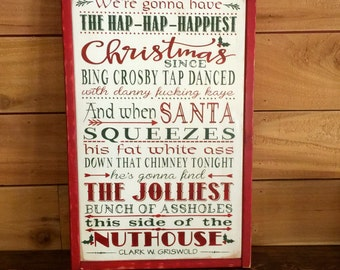 Christmas Vacation Sign, National Lampoon, Griswold Christmas, Wood Sign