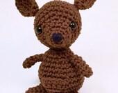 Crochet kangaroo pattern, Amigurumi, Stuffed Toy, Kangaroo Plush, kangaroo Plushie, Stuffed Animal, kangaroo Toy