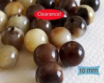 Polished Tibet Horn Beads--3 Pcs   1-H110-3