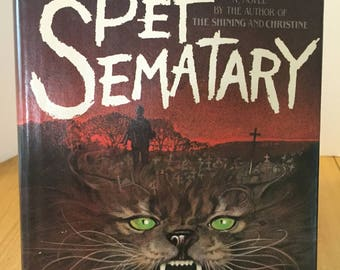 Pet Sematary by Stephen King - Rare NON-BOOK CLUB Hardcover Edition 1983
