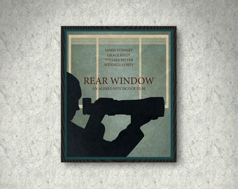 Rear Window Movie Poster Print, Home Decor, Print Art Poster