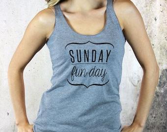 Sunday Funday shirt, womens graphis tees, yoga tank, brunch shirt, girls weekend shirt, sunday brunch, drinking shirt, weekend tank