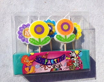 Flowers Birthday Candle Set Candles