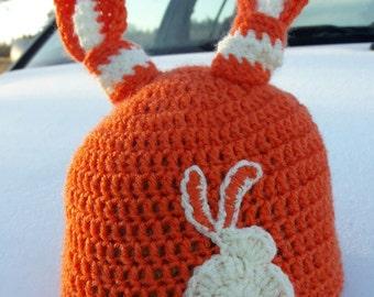 Crochet baby hat / Easter Bunny Hat / Baby Bunny Hat