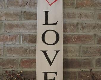 Love - Heart Handpainted Sign