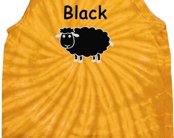 Men's Black Sheep of the Family Tie Dye Tank Top BLACKSHEEP-3500