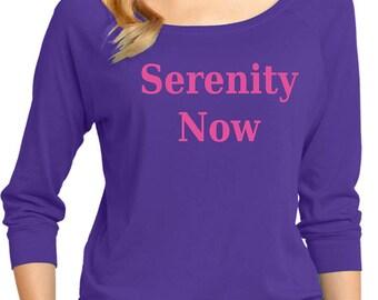 Ladies Serenity Now 3/4 Sleeve Scoop Neck SERENITY-DM482