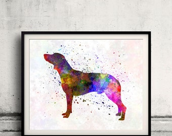 Polish Hunting Dog 01 in watercolor - Fine Art Print Poster Decor Home Watercolor Illustration Dog - SKU 2299