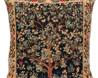 belgian gobelin tapestry cushion pillow cover Tree of Life by William Morris