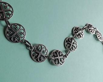 Choker Necklace Medallions Celtic Hearts
