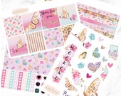 Erin Condren Horizontal Flutter By Butterfly Weekly Kit Planner Stickers