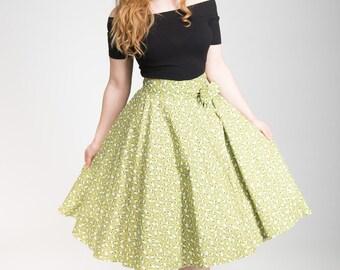 Womens 50's, Sheep print, full circle skirt, novelty skirt, sheep,  retro skirt, rockabilly skirt, circle skirt, cotton skirt, made to order