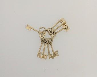 9ct Gold I Love You Keys