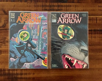 1989 Green Arrow #13 and #14 Comic Books/ NM-VF/ 1989 DC Comics/ 1st Series/ Mike Grell/ Choose One or Both for a Discounted Price!!!