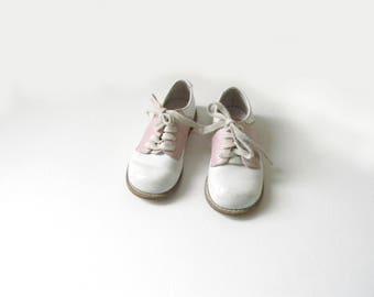 Antique Children's Leather Shoes - Size 7
