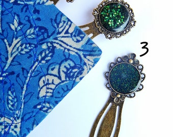 Segnalibro, Cabochon segnalibri, Resin cabochon, segnalibro bronzo, Antique bronze bookmark