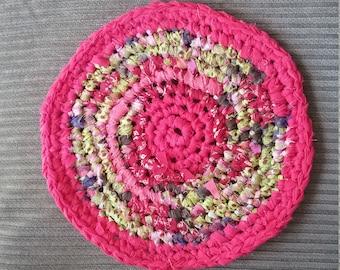 Crochet rag trivet