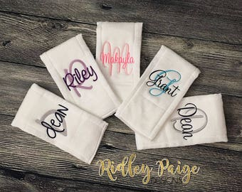 Monogram Burp Cloths, Personalize Baby Burp Clothes, Newborn Necessity, Infant Accessory, Custom Baby Shower Gift, Monogram Baby Burp Cloths