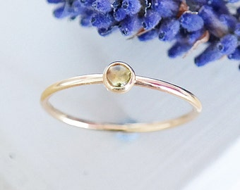 Peridot Ring, Gold Ring, Stacking Rings, Peridot, 9ct Gold Ring, Dainty Ring, Birthstone Ring, Solid Gold Ring, Gemstone Ring, Gold Band