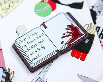 Dear Diary Enamel/Lapel Pin, inspired by Heathers