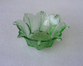 Vintage Small Serving Bowl  by Green Glass