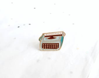 Typewriter Enamel Pin | Typewriter Brooch | Typewriter Lapel Pin