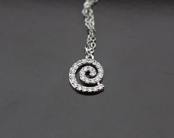 Silver Vortex Necklace Celtic Necklace Silver Celtic Spiral Pendant Charm Necklace Personalized Necklace Customized Jewelry