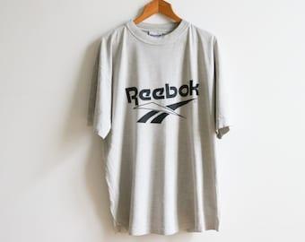 Vintage Reebok grey t-shirt size XL