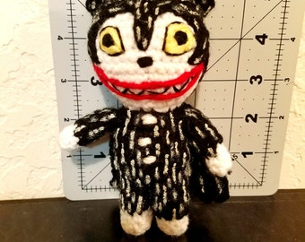 Vampire Teddy Inspired Amigurumi Doll