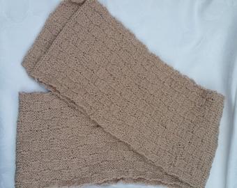 Beige Basket Weave Scarf