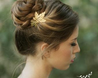 Gold leaf Comb Wedding Hair Comb Gold Bridal Jewelry vintage comb Bridal Hair Accessories bridal hair pin bridesmaid gift bridal headpiece