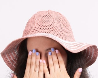 Summer pink hat  for  wommen's