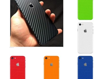 Apple iPhone 4 4S 5 5S 6 6S 7 8 & Plus Carbon Fiber 3D Fullbody Skin Wrap - Not a hard case - All Colors
