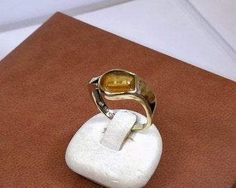 Nostalgia vintage GR221 gold of 333 with citrine ring