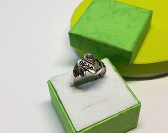 17.9 mm ring Silver 925 abalone shell rar SR800