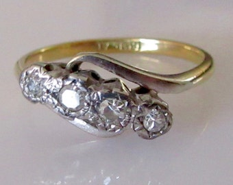 18ct and Platinum Diamond Ring
