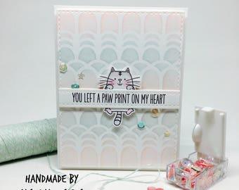Handmade Cat Card