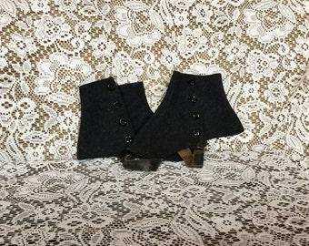 Vintage Wool Spats, Wool Felt Spats, Vintage Spats, Spats, Victorian Spats, Men's Spats