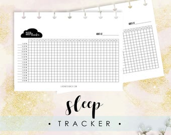Sleep Tracker, Fits Happy Planner MINI, Printable, Instant Download, Track Your Sleep, Bullet Journal, Gift for Her