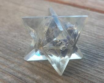ORGONE BLUE AVENTURINE Gemstone Merkaba Star Orgone