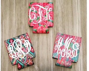 Blank or Monogram Lilly Pulitzer Inspired Can Coolie