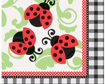 Lively Ladybugs Luncheon Paper Napkins 16ct