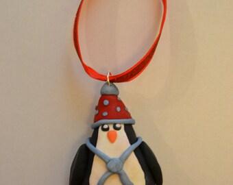 Red & Blue Winter Penguin