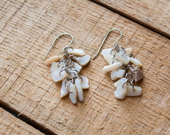 Pearly Shell Earrings